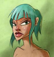 Blue Hair by Sodano