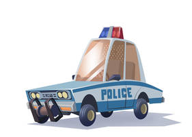 Toon Cop Car by Sodano