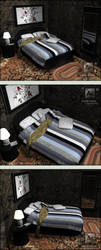 bedspread 3ds max by EvolveRed