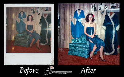 Lady In Blue. Before And  After by arihoff
