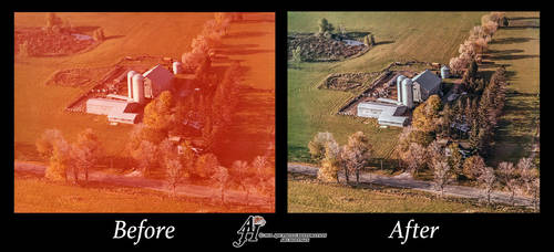 Family Farm. Before And After by arihoff