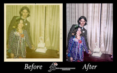 Wedding Day Photo Restoration.Before And After by arihoff
