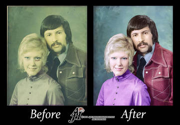 Sweethearts1972 Photo Restoration.Before And After by arihoff