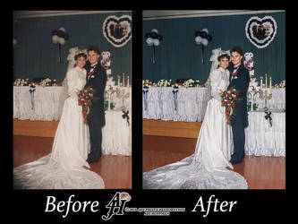 Newlywed Photo Restoration.Before And After by arihoff
