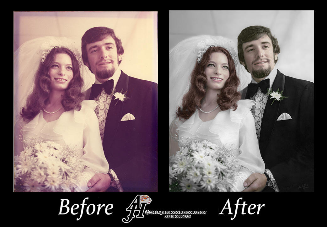 Attractive Couple In The 1970's.Before And After by arihoff