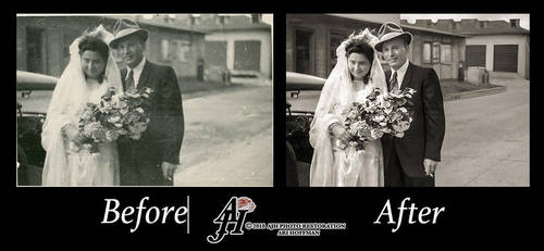 Charming Wedding Couple In The 1940's by arihoff