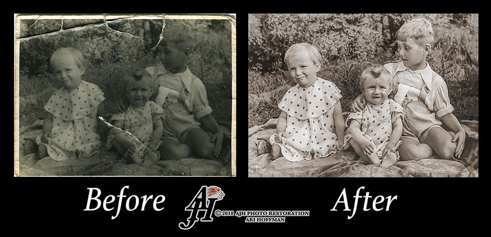 Siblings In The 1950's. Before and After. by arihoff