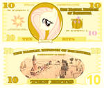 Fluttershy 10 bits bill by cradet