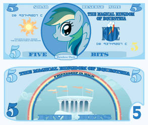 Rainbow Dash 5 bits bill by cradet