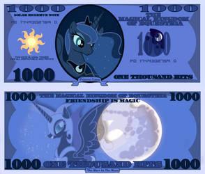 Princess Luna 1000 bits bill by cradet