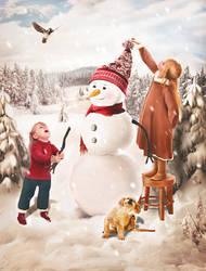 Children's gladness by Aykush