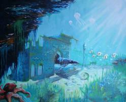 Underwater Ruins by jaanavesanen