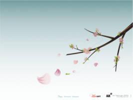 The spring breeze has blown. by AiK-art