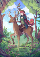 Druid in the Woods by Maricu-Mana