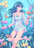 Underwater Traveler by Maricu-Mana