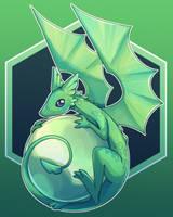 Green Dragon Familiar by Maricu-Mana
