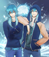 Aoba and Sly Blue - DRAMAtical Murder - by KiraiRei
