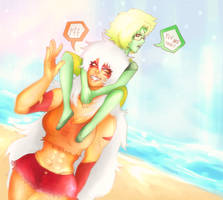 Beach City  -Steven Universe - by KiraiRei