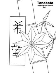 Coloring page - Tanabata by Black-Arrow-Workshop