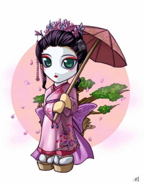 A Chibi Geisha by Nacrym