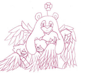 Winged AU ~ Wingnuts Flock Pile WIP by Lady-Star-Strings