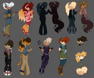 Doodle Dump ~ Villainous Character Bits by Lady-Star-Strings