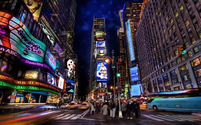 New York Time Square by Morgadu