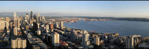 Seattle from the Space Needle by greenjinjo