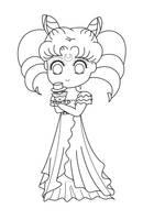 Princess Chibiusa lineart by agateczka21