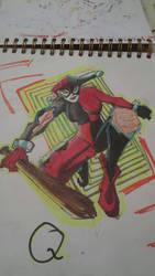 Harley quinn WIP by nickyocum