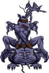 The Trio of Dark Watchmen by phoenixignis