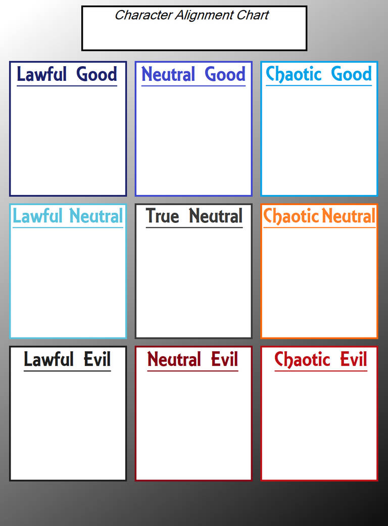 Character Alignment Chart Template By Joyofcrimeart On Deviantart