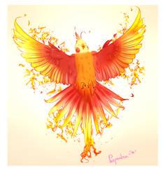 Phoenix cockatiel by Parpendra