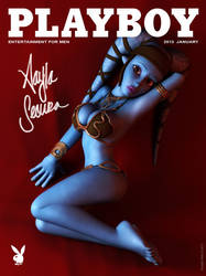 Aayla Secura on Playboy cover by kondaspeter1