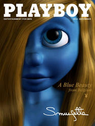 Smurfette on Playboy cover by kondaspeter1