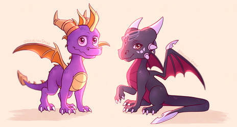 TLoS little ones by IcelectricSpyro