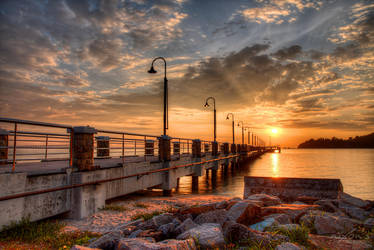 Sunrise of Jerejak Island Jetty by fighteden