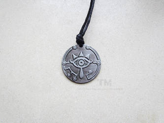 Eye of the Sheikah - TLOZ Inspired Necklace by thingamajik