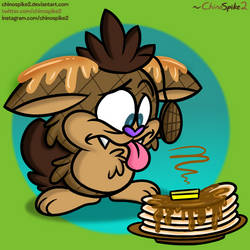 Hey Waffles!! Do you like pancakes?!?! by ChinoSpike2