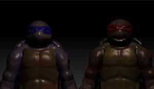 ninja turtles w.i.p by tlmolly86