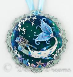 In Frozen Seas Mermaid Art Pendant by DeidreDreams