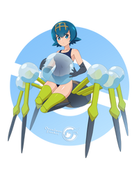 Lana Araquanid_Pokemonster Girl 08 by Orcaleon