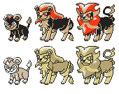 Litleo Pyroar GSC Sprites by Axel-Comics