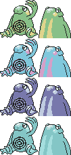 Beta Politoed GSC Sprites by Axel-Comics