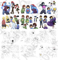 [UnderTale] Sketchdump by benteja
