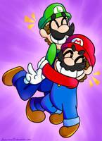 BRO HUG!!! by Shirarisun