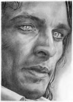 Rupert Friend portrait by dmkozicka