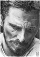 Christian Bale portrait by dmkozicka