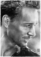 Tom Hiddleston portrait by dmkozicka