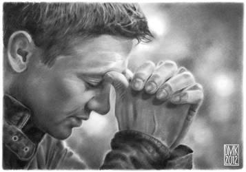 Jeremy Renner portrait by dmkozicka